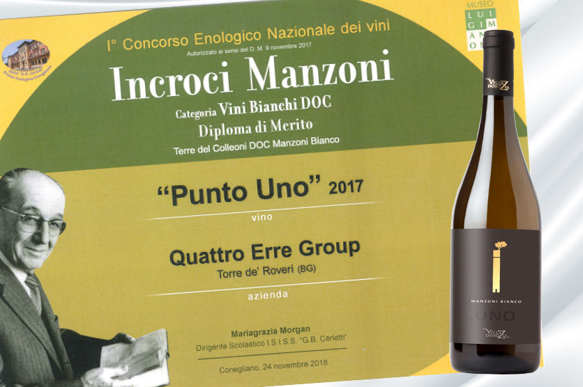 WINE CONTEST LUIGI MANZONI: PUNTO OBTAINS A CERTIFICATE OF MERIT